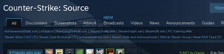 Steam Extra Game Links Example