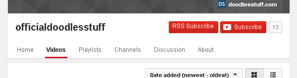 RSS Button on Example Channel